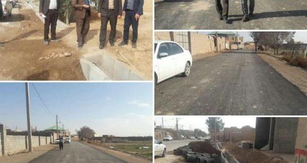 خیابان امام (ره) صدرآباد و معابر روستائی جلال آباد رستاق بهسازی می شود