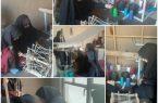 دانش آموزان شمسی از کارگاه پارچه بافی سنتی بازدیدکردند