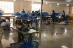 روزانه هزار دست انواع لباس های ایزوله در شهرستان تولید می شود